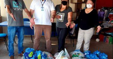 Ação voluntária da Metrosul doa cestas básicas para entidade assistencial de Esteio